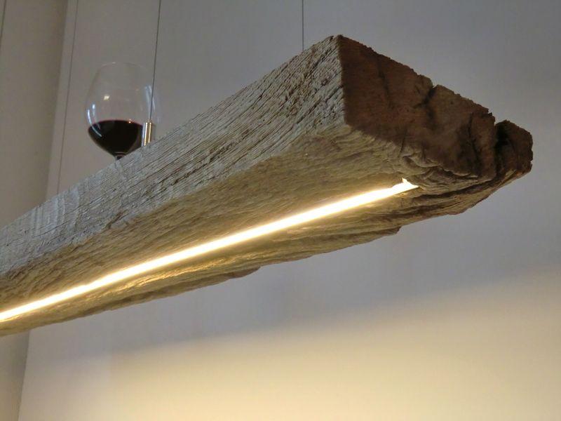 Led wohnzimmerlampen ~ Hängelampe aus antiken balken leds warmweiss von peka ideen auf