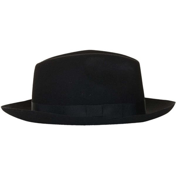 TOPSHOP Homburg Felt Hat (68 AUD) ❤ liked on Polyvore  221efae08419