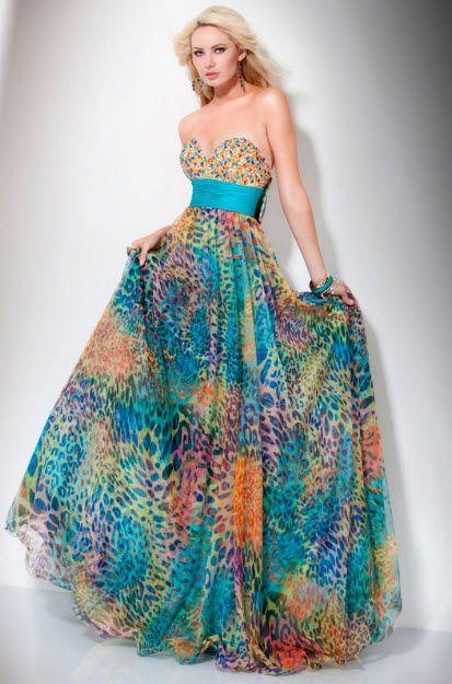 55f0938e819 Multi Color Prom Dresses pictures