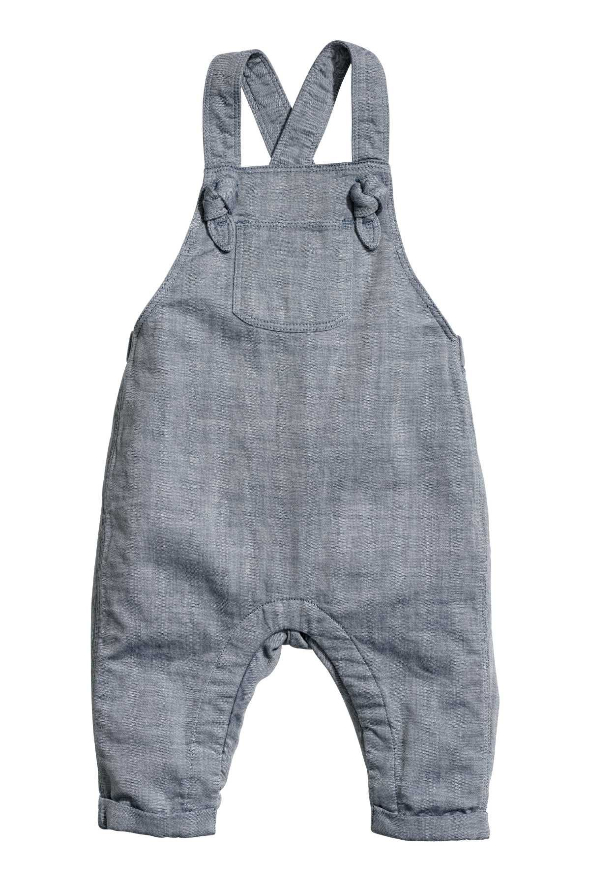 7c1d5df6f Blue. BABY EXCLUSIVE CONSCIOUS. Bib overalls in woven organic cotton ...