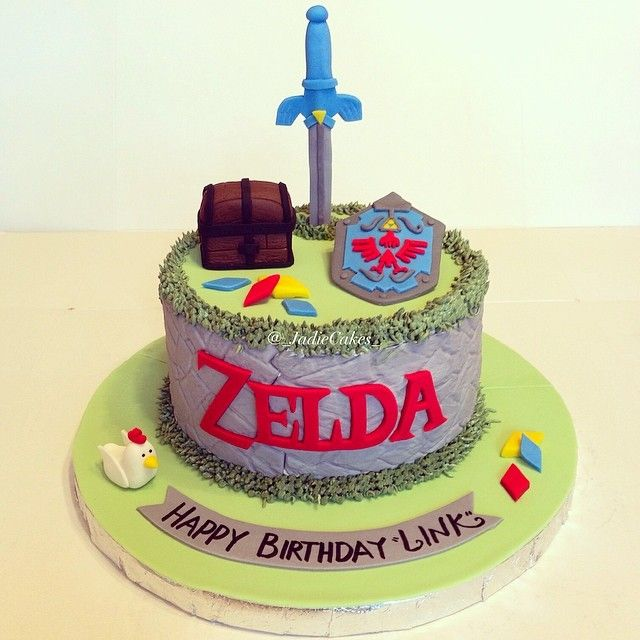 The Legend Of Zelda Cake. Video Game Cake. Photo Taken By