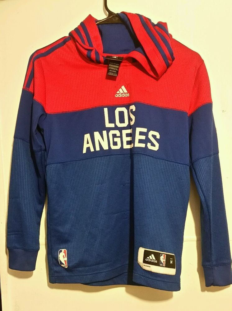 Los Angeles Clippers Pregame Youth. Medium Hoodie by Adidas