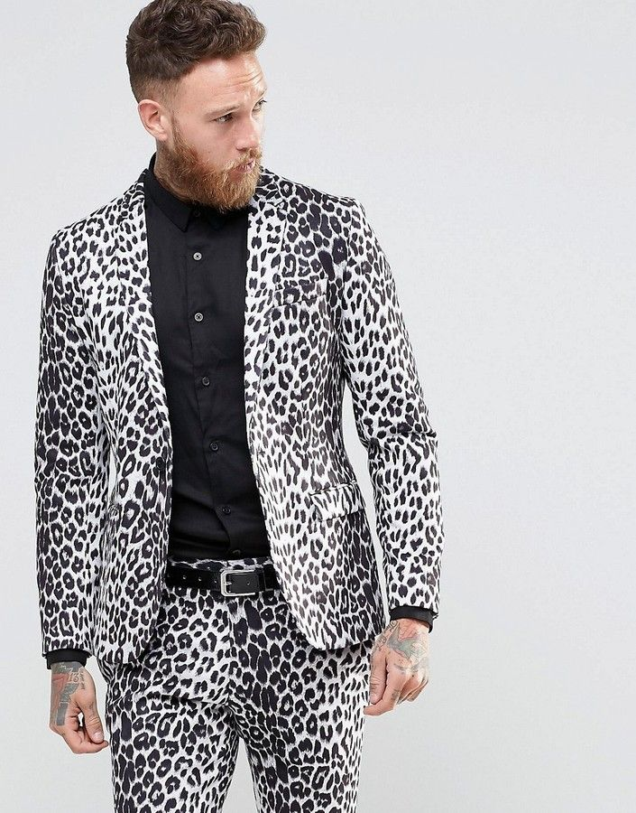 2907487eee Religion Skinny Blazer in Leopard Print   Men's Blazers and Sport ...