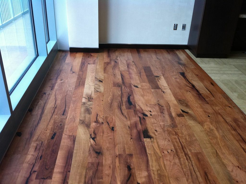 Rustic Mesquite with black epoxy Wood floors wide plank