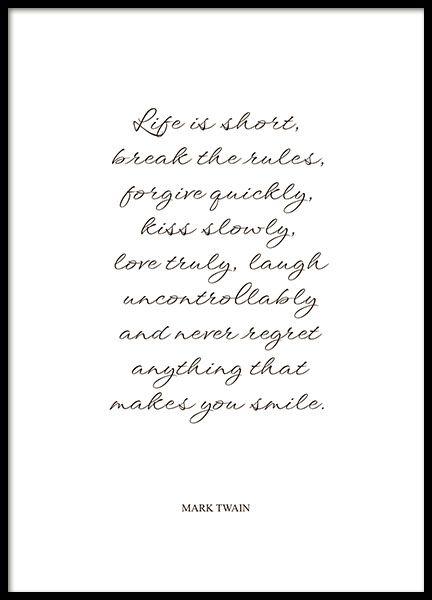 Mark Twain, Poster