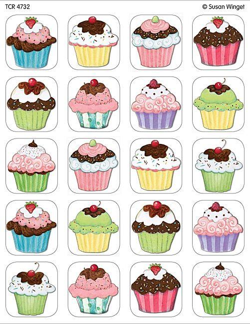 Cupcakes stickers from susan winget cupcakes - Jeux de cuisine de cupcake ...