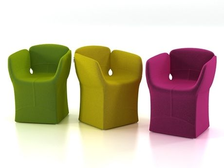 The Design Of Bloomy Armchair By Moroso Wants To Represent The Magical  Event Of Flowering:the Bud Has Become A Chair, The Open Flower A Lounge  Chair And The