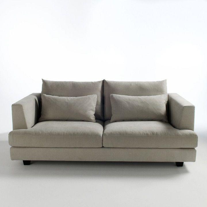 canap fixe clabson toile coton lin am pm meubles et d co la redoute sofa couch furniture