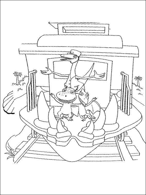 dinosaurier zug 2 ausmalbilder für kinder malvorlagen zum