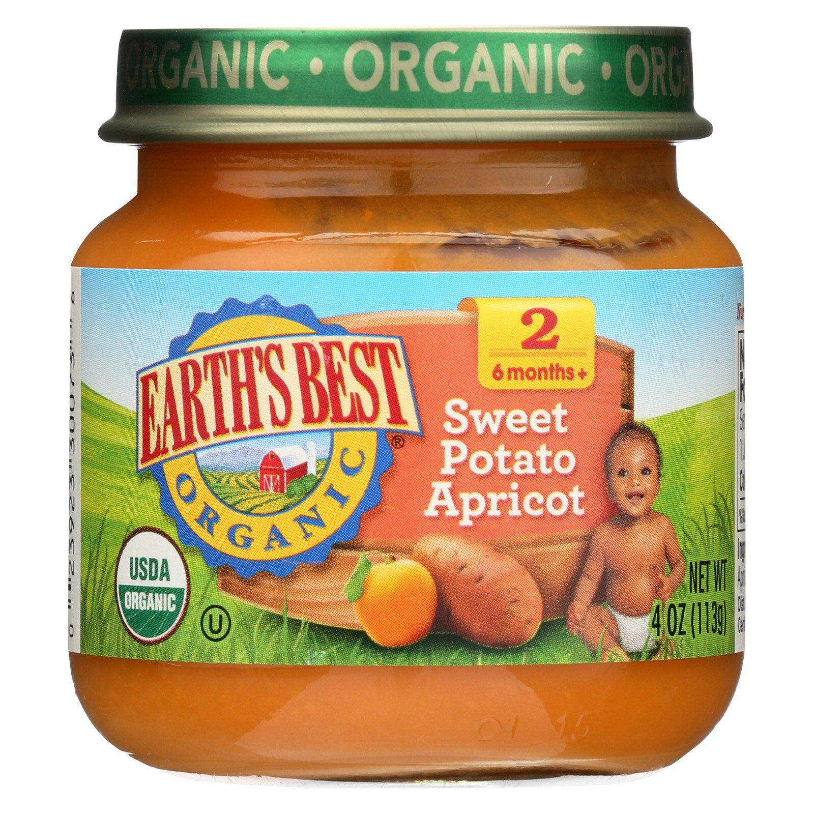 Earth's Best Organic Sweet Potato Apricot Baby Food