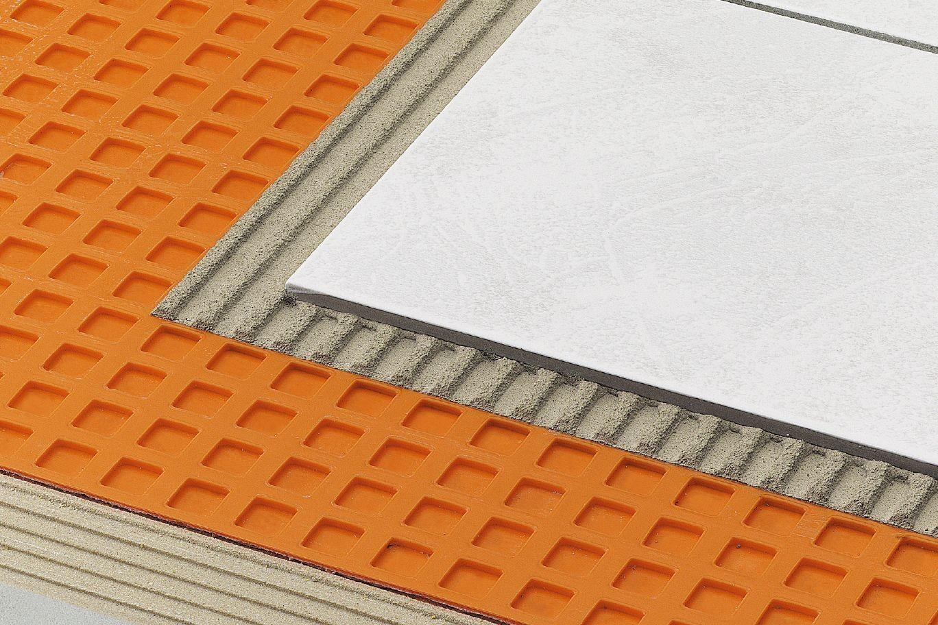 Schluter Ditra Ditra Xl Membrane Per Ln Ft Ceramic Floor Tile Ceramic Floor Underlayment