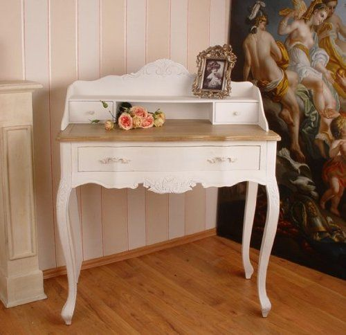 SEKRETÄR LANDHAUSSTIL SHABBY CHIC VINTAGE WEISS COTTAGE RETRO ANTIK