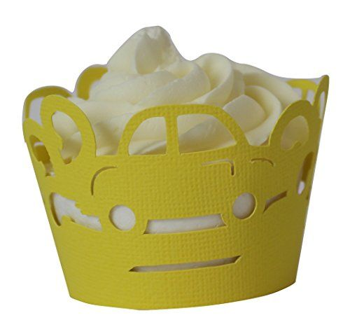 All About Details Yellow Cars Cupcake Wrappers Set of 12 -- See this great product.