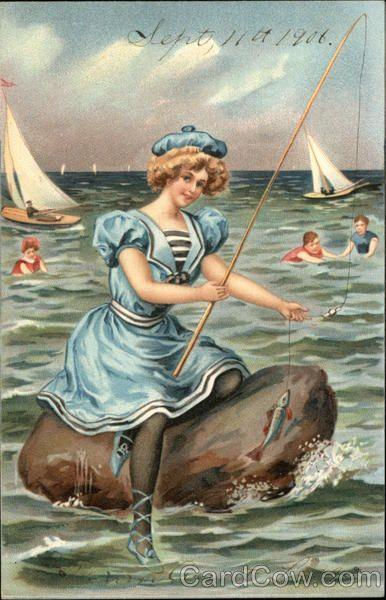 Vintage seaside greeting card!