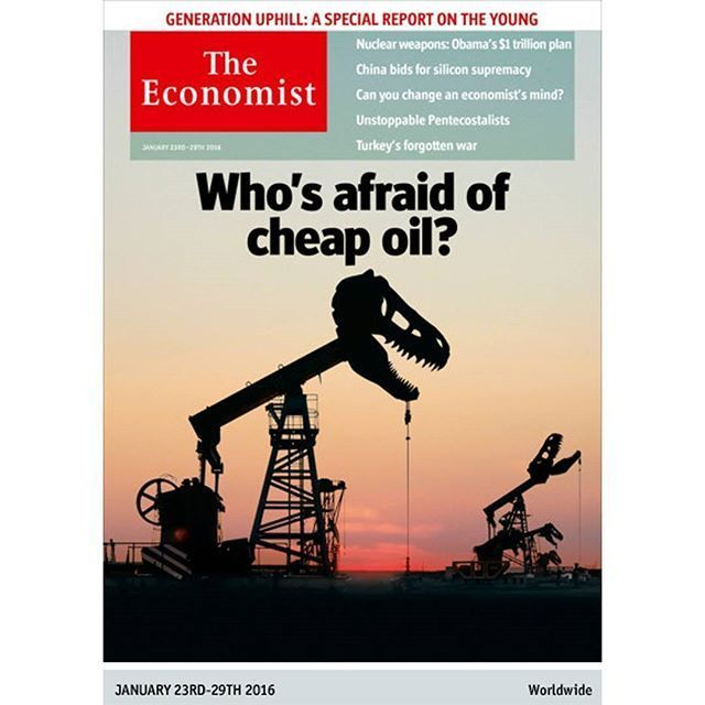 Our new cover Whou0027s afraid of cheap oil? January 23rd - 29th 2016 - new blueprint company saudi arabia