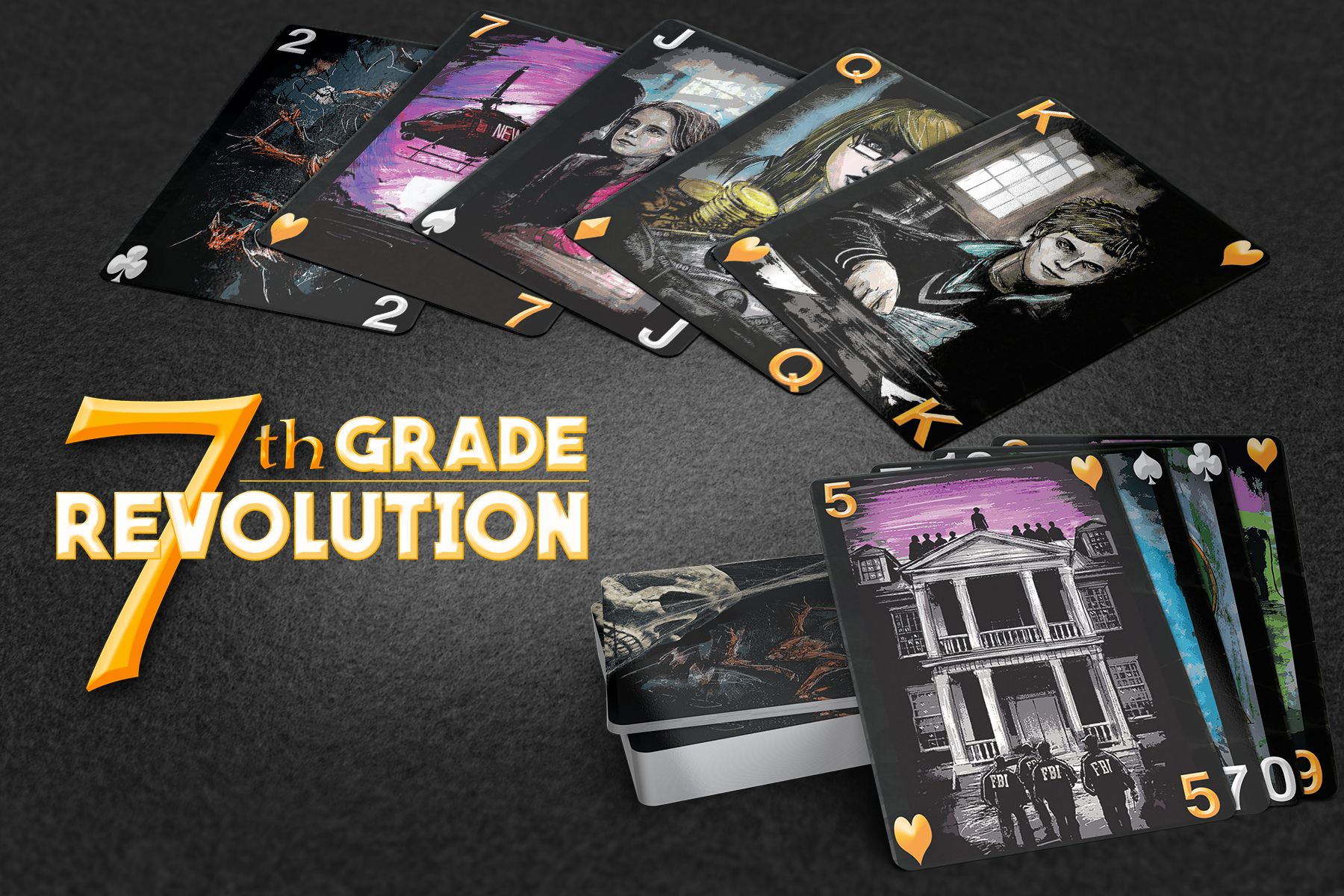 7th Grade Revolution Playing Cards Playing card deck