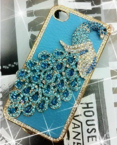 1x Luxury Designer Blue Bling Crystal Case Handmade Peacock for Apple Iphone 4 and 4s [Limited Edition] by yupy, http://www.amazon.com/dp/B0085I4BA4/ref=cm_sw_r_pi_dp_5qUZqb0VC9V53