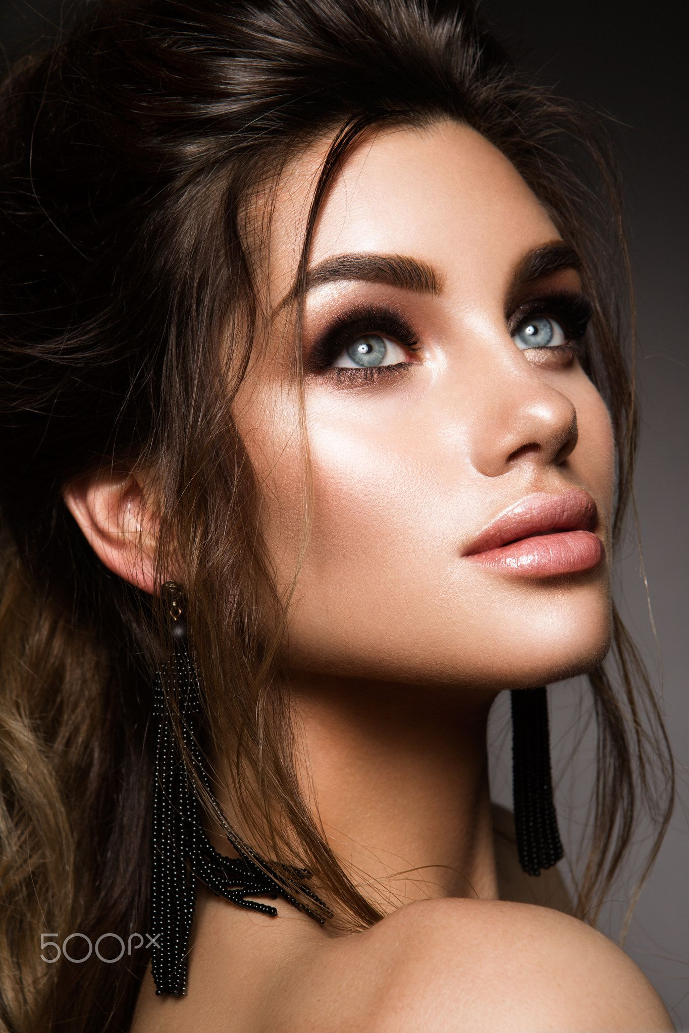 Beautiful woman with professional make up - Beautiful