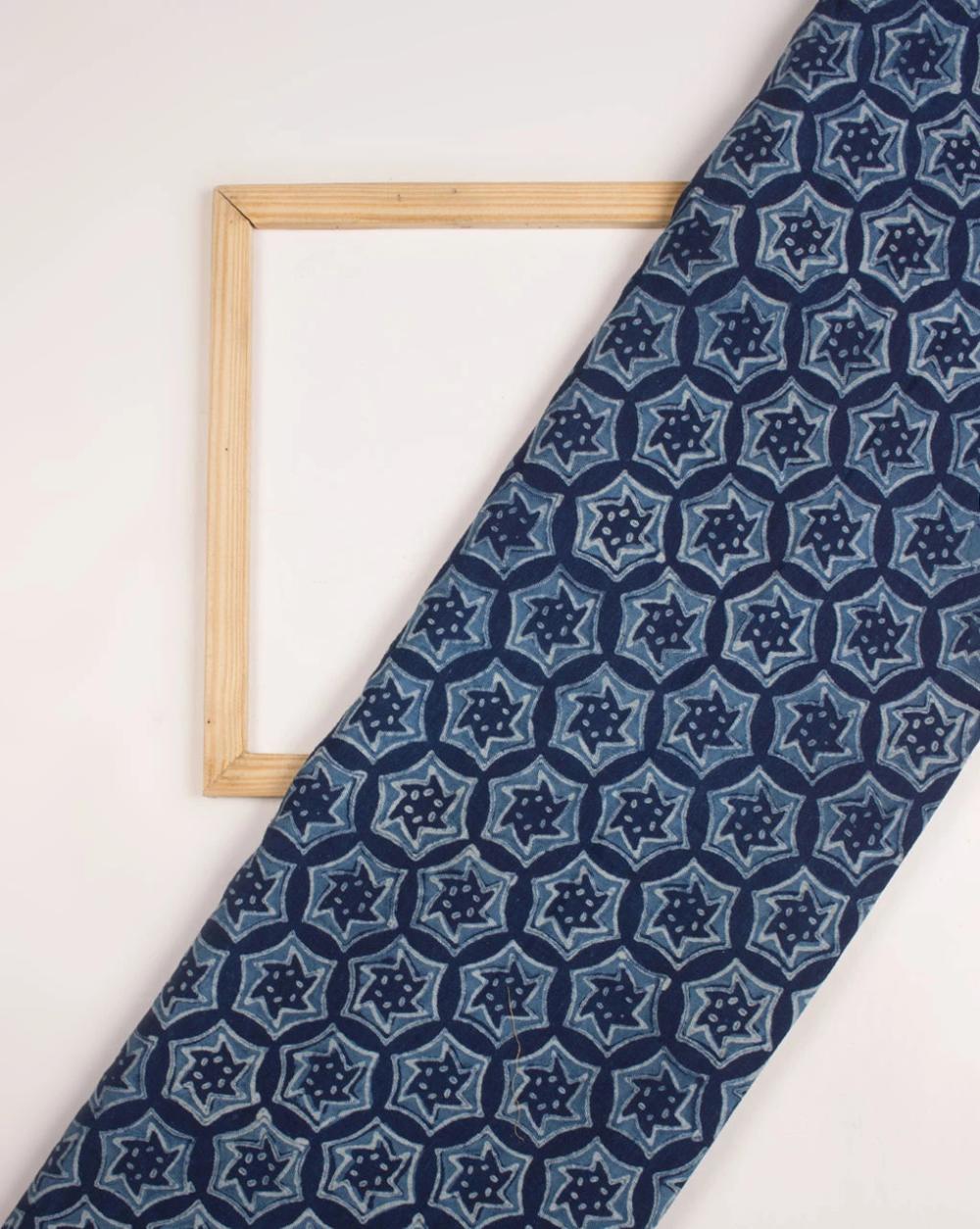 Cotton Fabric  Blue Woven Cotton Fabric  Blue Cotton Fabric  Woven Cotton Fabric  Blue Geometric