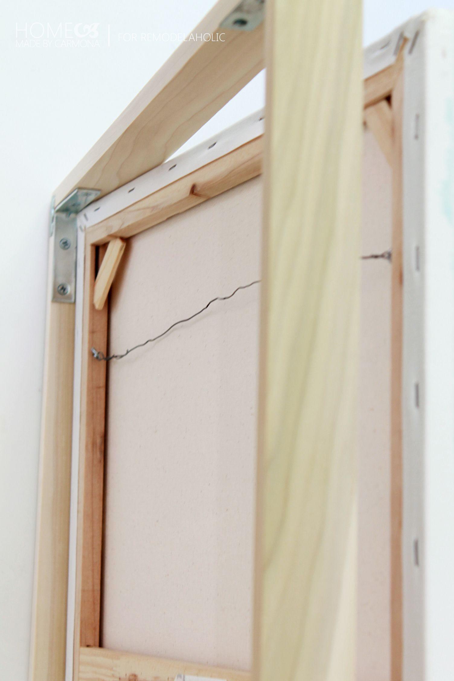 Remodelaholic | Tutorial: Chic Floating Frame for a Canvas ...
