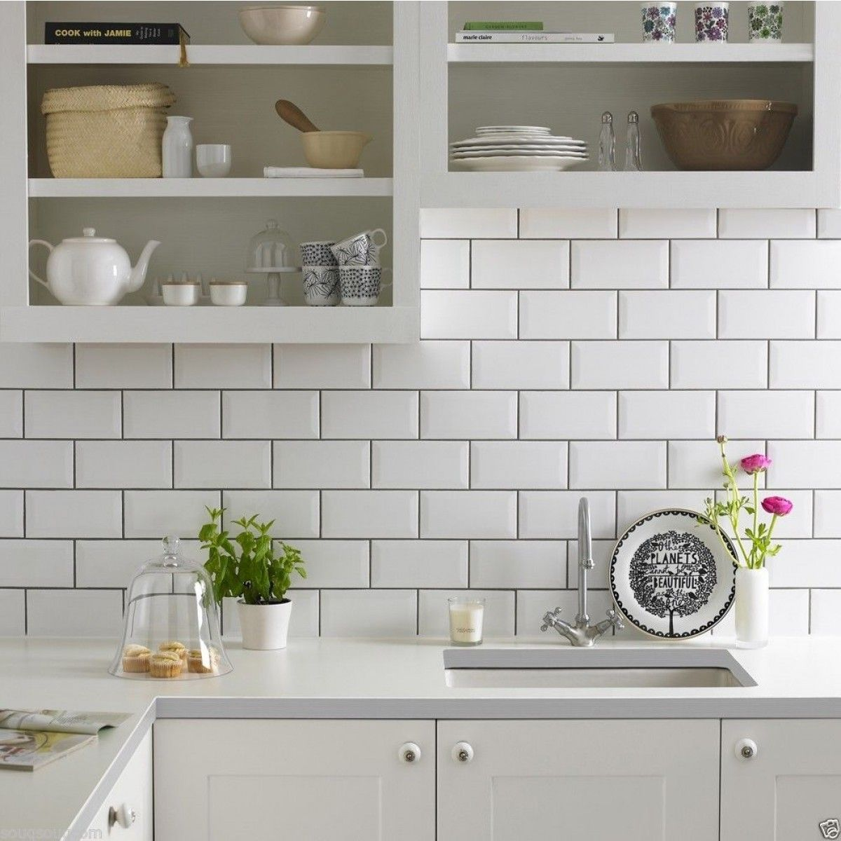 American Rectangular White Tiles Uk Google Search Brick Kitchen Kitchen Wall Tiles Ceramic Kitchen
