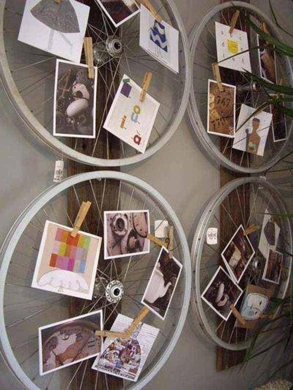 10 id es pour donner une nouvelle vie aux roues de v lo inspirations pinterest roues. Black Bedroom Furniture Sets. Home Design Ideas