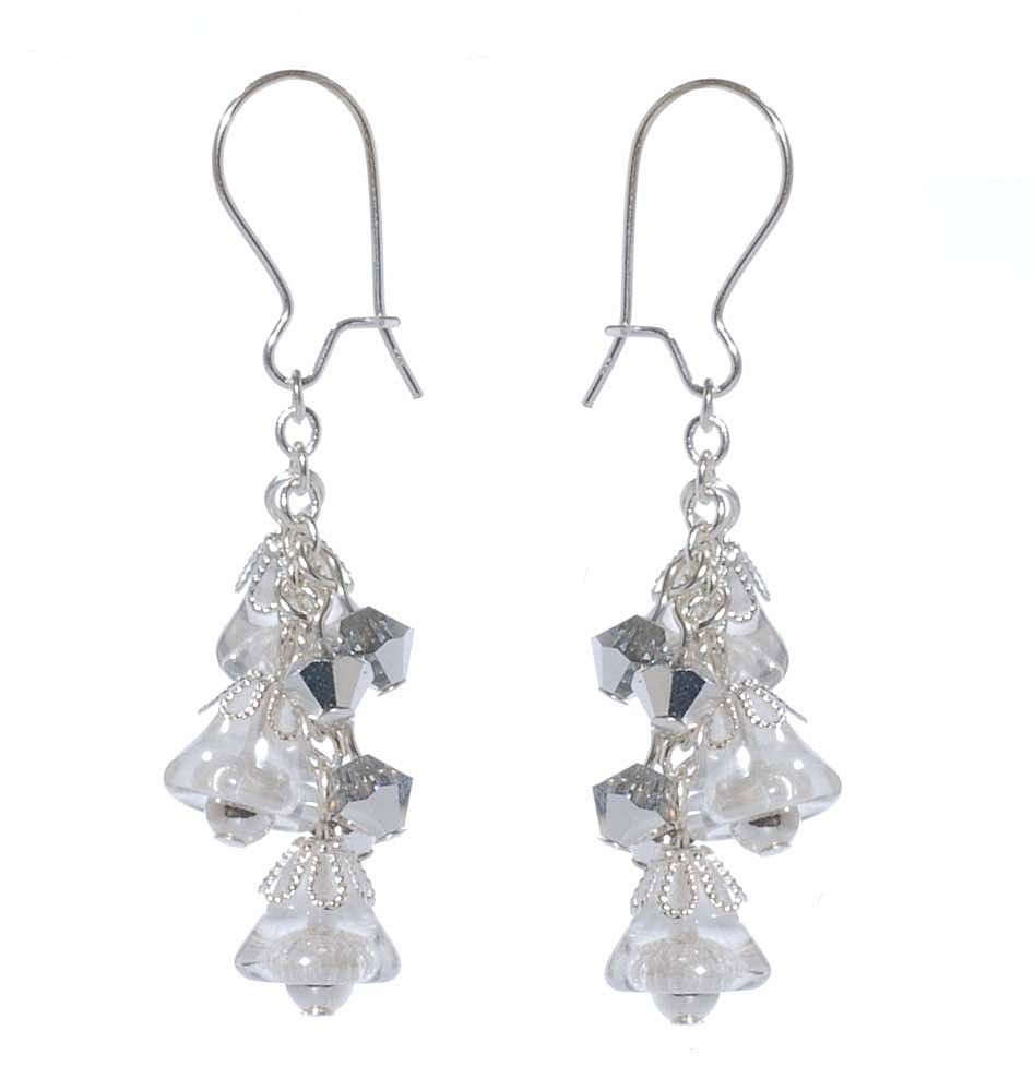 Make these silvery, shiny, festive dangles to wear during