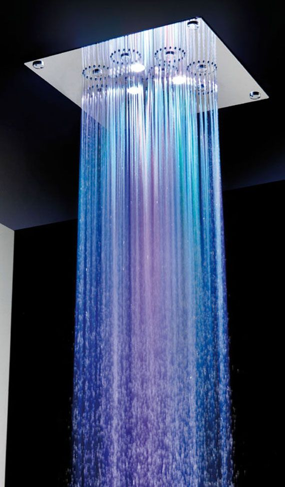 Bathroom : Vigorous Downpour Glowing Shower Spa Shower Head For ...