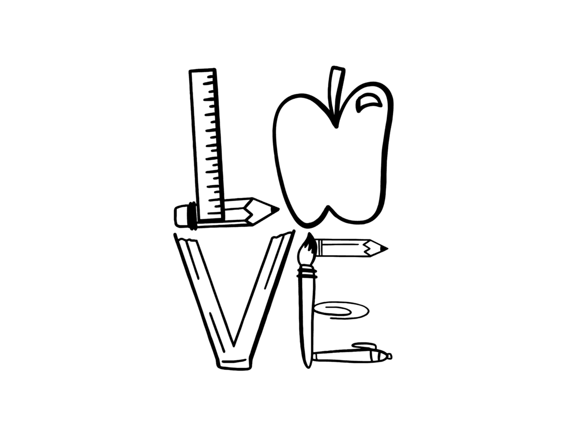 Download LOVE Svg (Graphic) by TheSmallHouseShop | Svg, School ...