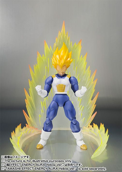 Dragon Effect Action Figure Holder Stand for Z S.H.Figuarts Tamashii Yellow