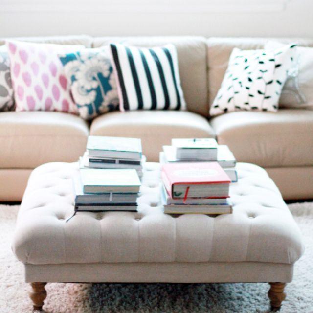 Tufted Ottoman For Living Room Home Decor Bedroom Bedroom Diy