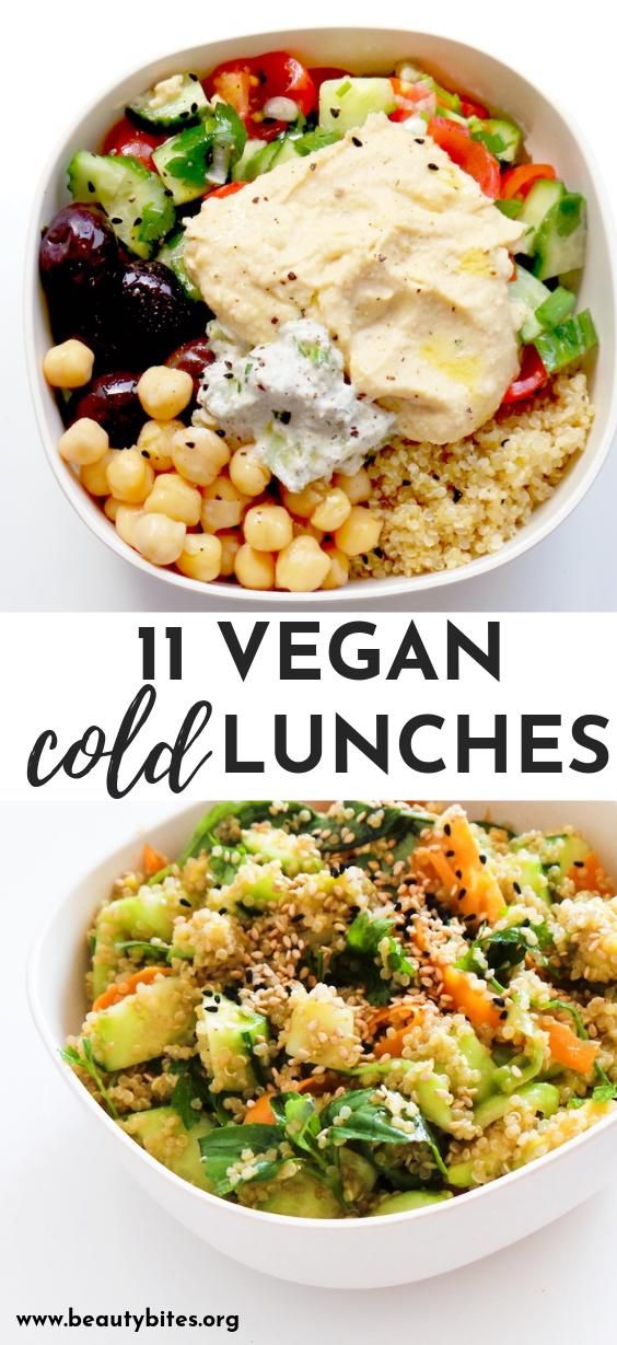 11 healthy cold vegan lunches! These easy clean eating ...