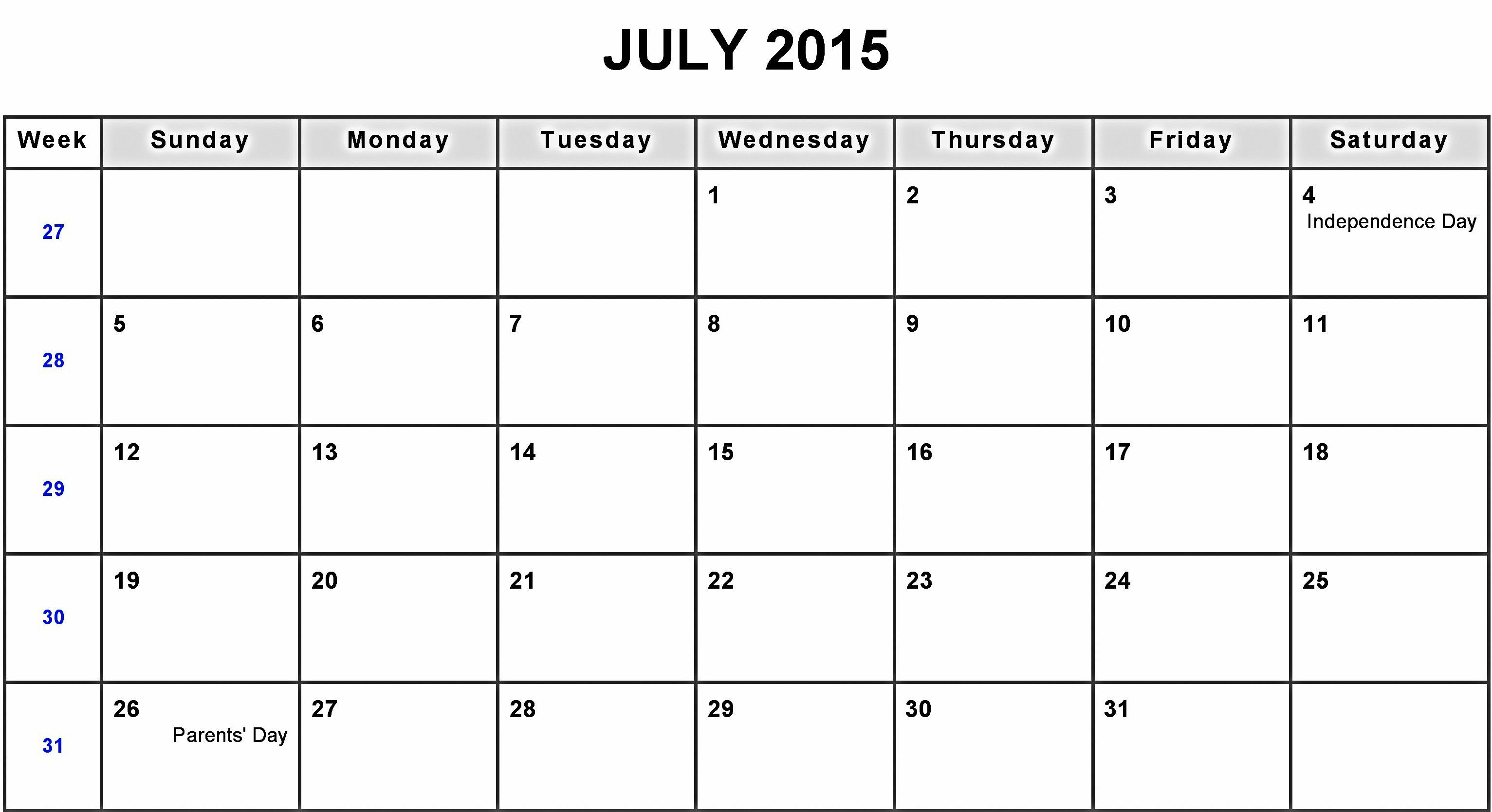 july 2015 calendar blank get an exclusive collection of july 2015 calendar printable template