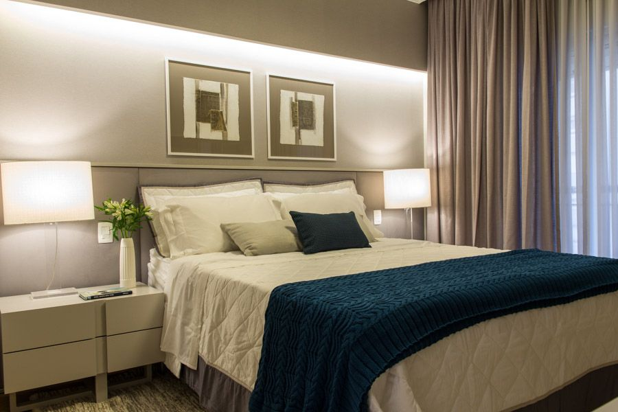 Quarto Casal Design De Interiores Apartamento Itaim Bibi