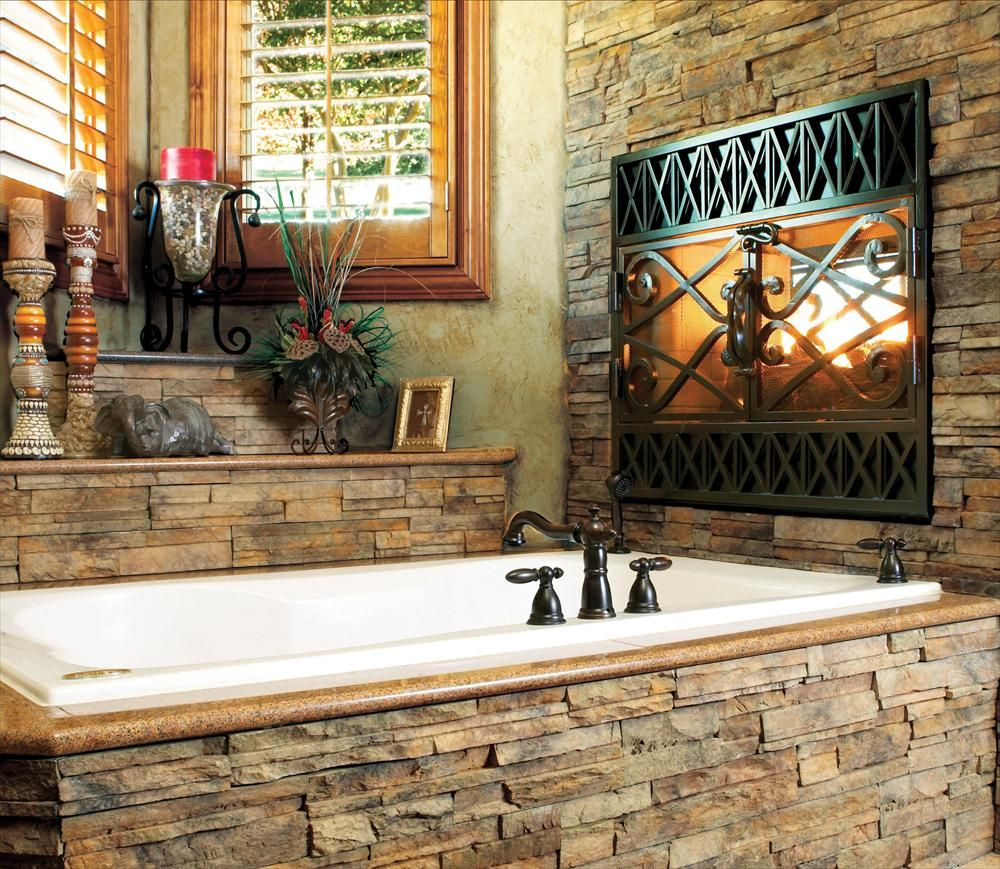 BuildDirect – Premium Manufactured Stone - Reno Ready Stack – Afternoon - Bathroom View