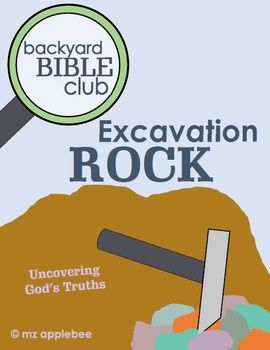 Genial Backyard Bible Club: Excavation Rock BUNDLE