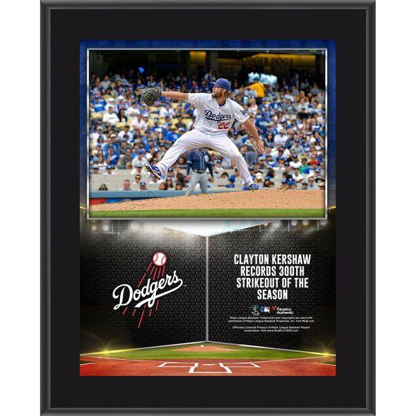 4f099d3fc Clayton Kershaw Los Angeles Dodgers Fanatics Authentic 10.5   x 13   300  Strikeouts