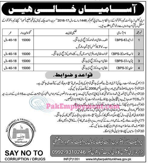 Education Department Kpk Jobs 2017vacancies Driver Naib Qasid