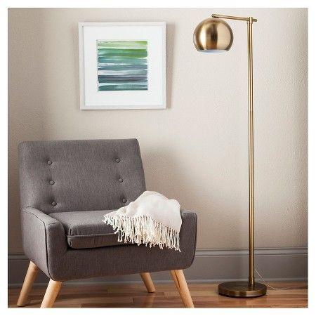 Edris Metal Globe Floor Lamp Brass Includes Energy Efficient Light Bulb Project 62 Target