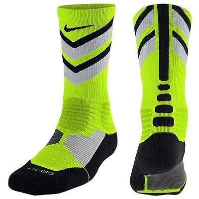 flotador Rizo Estación de ferrocarril  Nike Hyper Elite Chase Crew Sock Socks Volt Grey Mens Size 6-8 One Pair  NEW! | Nike basketball socks, Nike socks, Mens socks