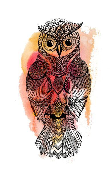owls art tumblr owls pinterest owl art. Black Bedroom Furniture Sets. Home Design Ideas