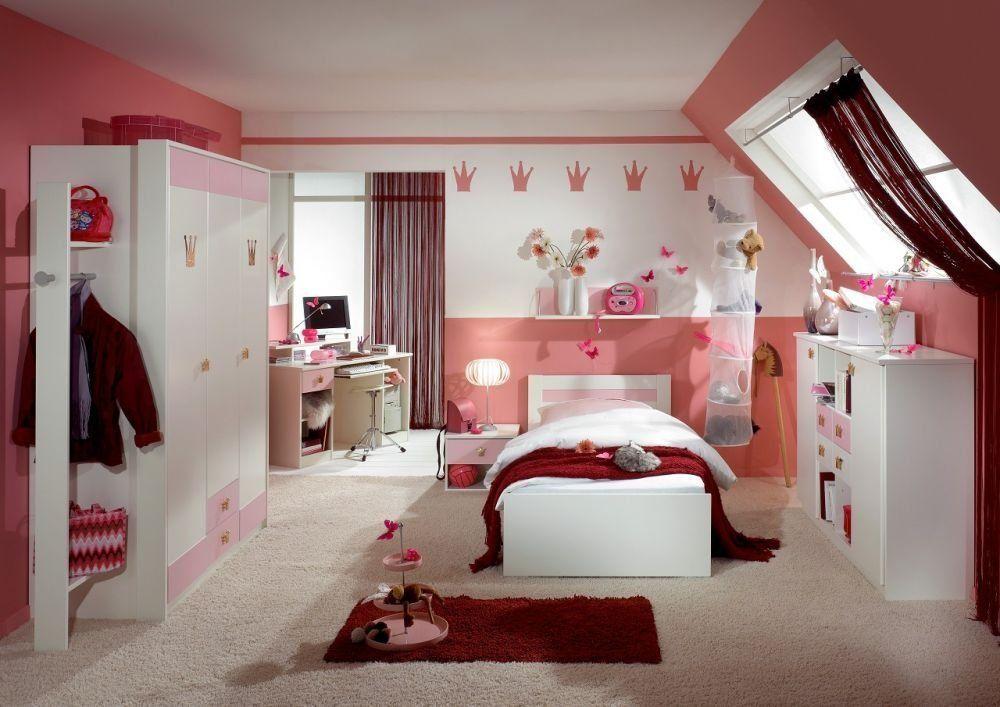 """Kinderzimmer komplett Set """"LIttle Princess L"""" rosa weiss ..."""