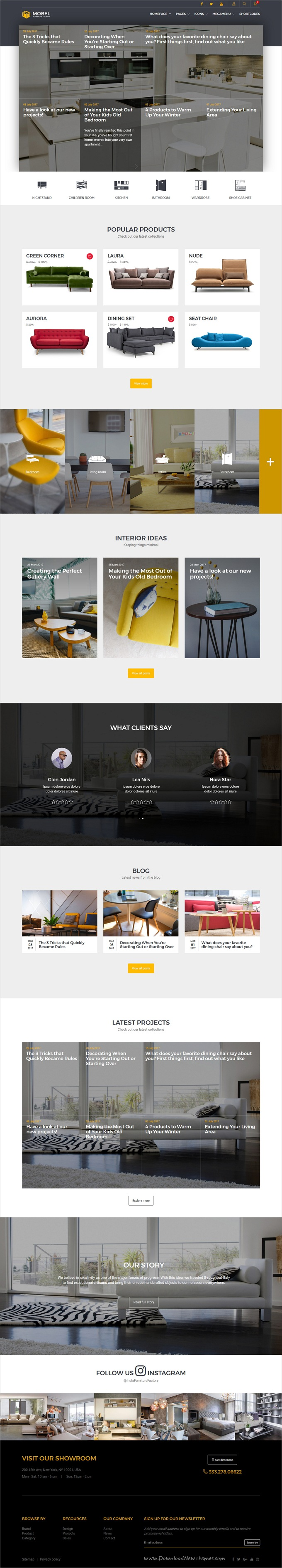 Mobel - Furniture HTML Template | Template, Website themes and Website