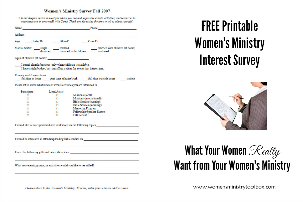 What Women Really Want From Your WomenS Ministry  Free Printable