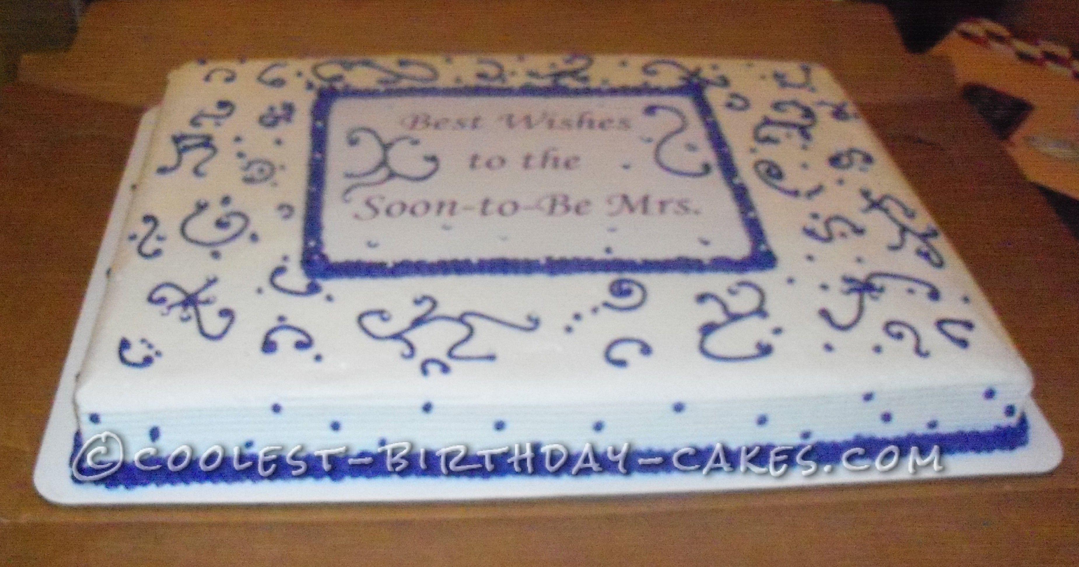 Easy Bridal Shower Cake Bridal Shower Cakes Rustic Wedding
