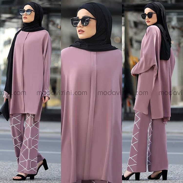 Endam Ikili Takim 36 48 159 Tl Whatsapp Sipari Casual Hijab Outfit Giyim Turban Kiyafetler