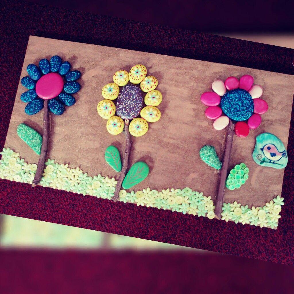 Taş Taş Boyama Taştan çiçek Kuş Deniz Kabuğu Yaprak Taş Yaprak