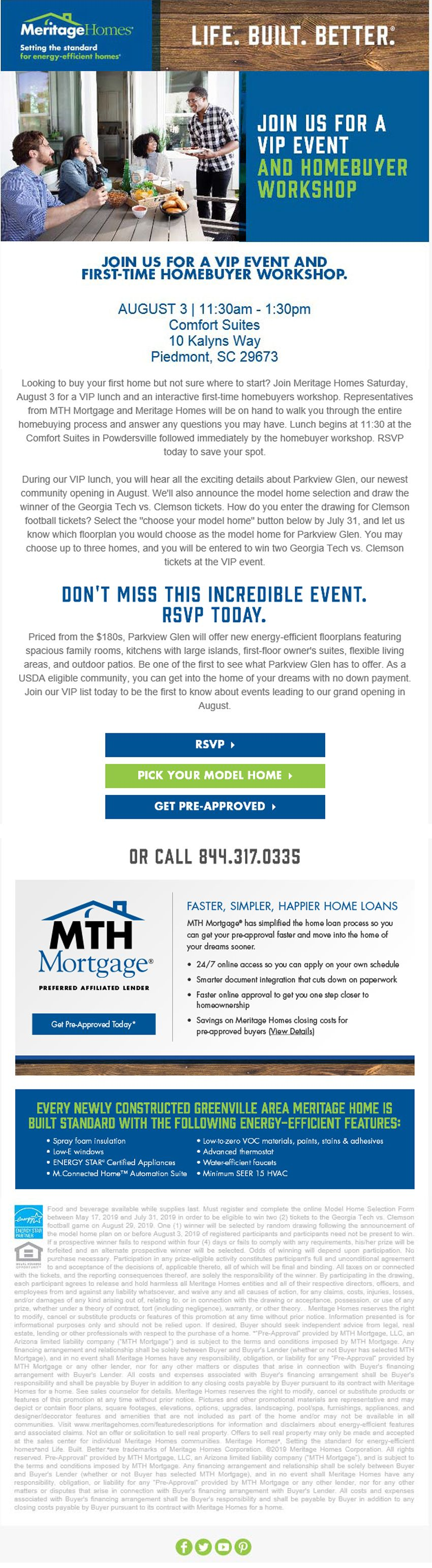 New Homes For Sale In Pelzer South Carolina Don T Miss Our Vip Event And First Time Homebuyer Workshop Aug New Homes For Sale Home Buying Parkview