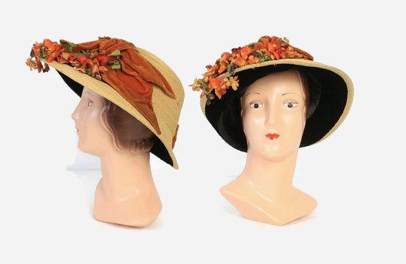 Reserved Layaway Vintage Edwardian Hat 1900s Titanic Etsy Edwardian Hat Floral Hat Hats Vintage