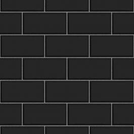 Fine Decor Subway Tile Effect Wallpaper Black Fd40137 This Striking Subway Tile Effect Wallpaper W Black Subway Tiles Subway Tile Black And Silver Wallpaper
